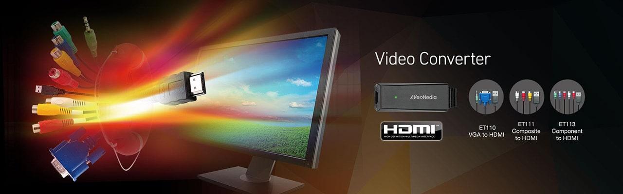 Конвертеры видеосигнала HDMI-VGA-RCA от AVerMedia