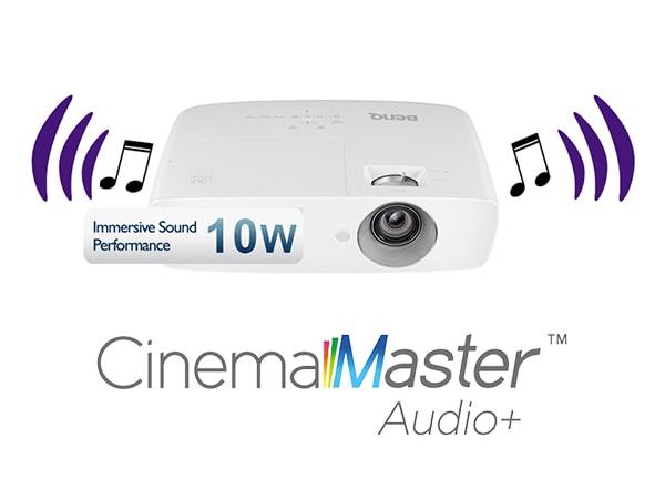 CinemaMaster™ Audio+ впроектореBenQ W1090