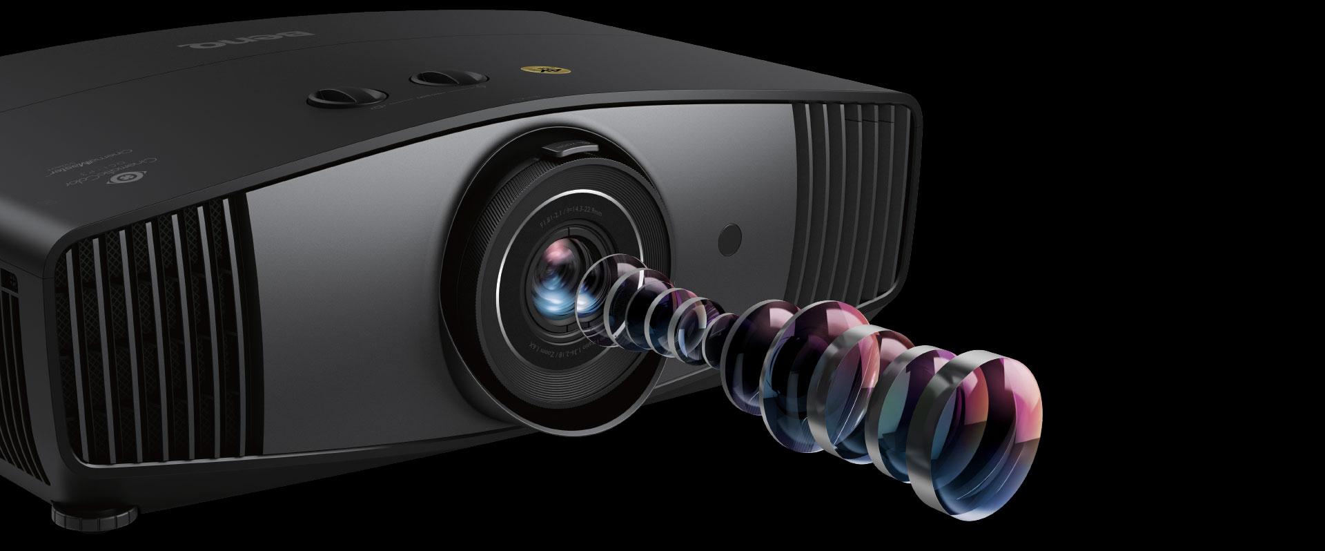 Оптическая система 4K с безупречной оптикой проектора BenQ W5700