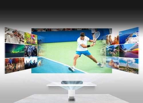Подключение ТВ-приставки к проекторуLG HF85LSR