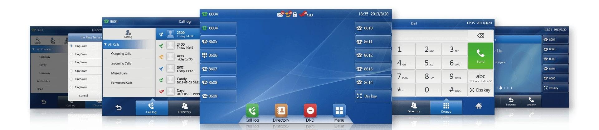 Улучшенный пользовательский интерфейсвтелефонах Yealink серииT4