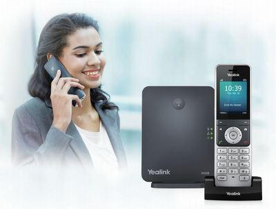 Yealink W60P — это беспроводная dect телефонная система